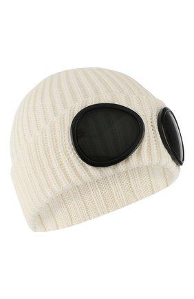 Мужская шерстяная шапка C.P. COMPANY белого цвета, арт. 07CMAC213A-005509A | Фото 1