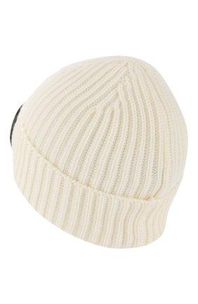 Мужская шерстяная шапка C.P. COMPANY белого цвета, арт. 07CMAC213A-005509A | Фото 2