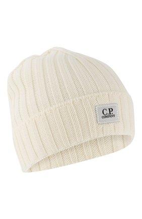 Мужская шерстяная шапка C.P. COMPANY белого цвета, арт. 07CMAC214A-005509A | Фото 1