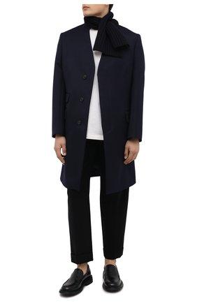Мужской кашемировый шарф LORO PIANA темно-синего цвета, арт. FAI4103 | Фото 2