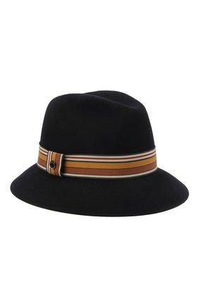 Женская фетровая шляпа ingrid LORO PIANA темно-синего цвета, арт. FAI7947 | Фото 1 (Материал: Шерсть; Статус проверки: Проверено, Проверена категория)