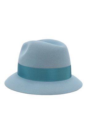 Женская фетровая шляпа ingrid LORO PIANA голубого цвета, арт. FAI7950 | Фото 2 (Материал: Шерсть; Статус проверки: Проверено, Проверена категория)