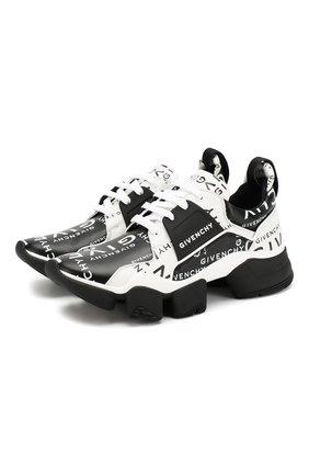 Кожаные кроссовки Jaw Givenchy черно-белые | Фото №1