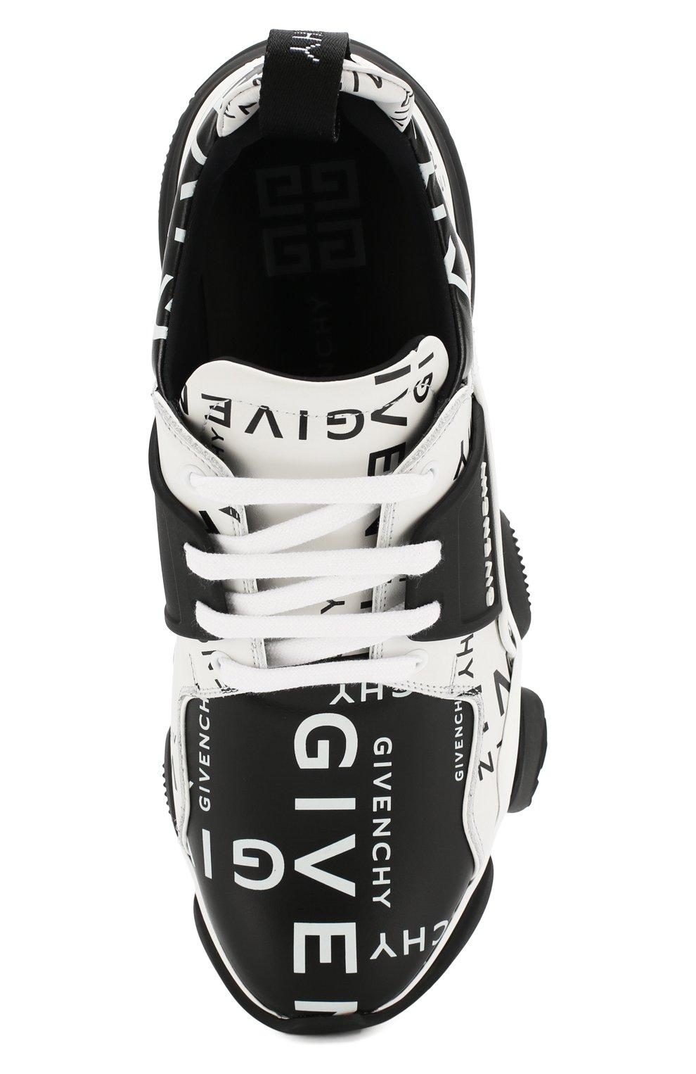 Кожаные кроссовки Jaw Givenchy черно-белые | Фото №5