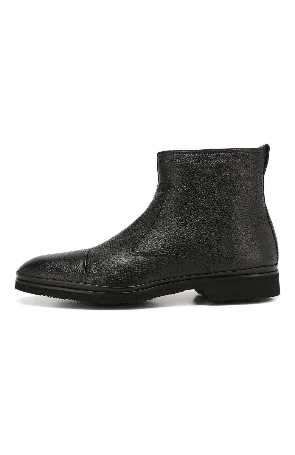 Мужские кожаные сапоги ALDO BRUE черного цвета, арт. AB8520H-CM | Фото 3