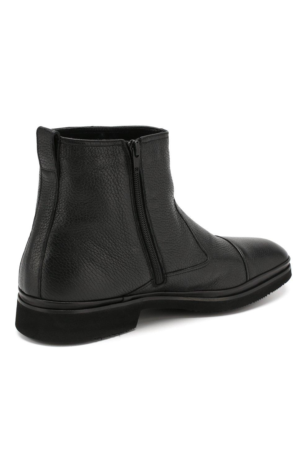 Мужские кожаные сапоги ALDO BRUE черного цвета, арт. AB8520H-CM | Фото 4