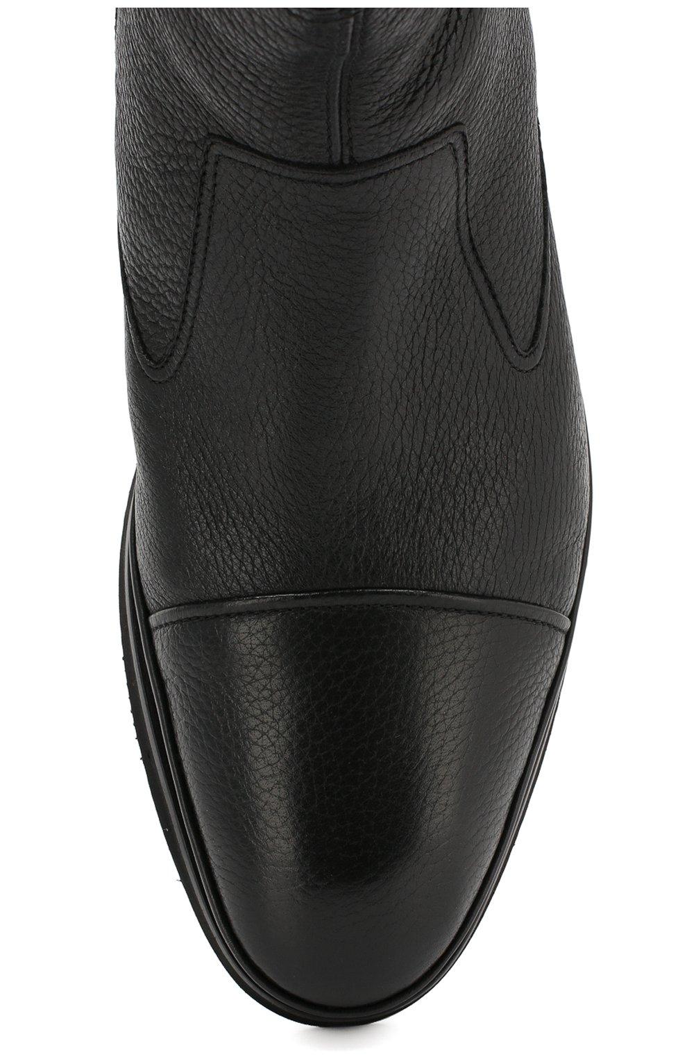 Мужские кожаные сапоги ALDO BRUE черного цвета, арт. AB8520H-CM | Фото 5