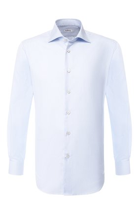 Мужская хлопковая сорочка KITON голубого цвета, арт. UCIH0660810 | Фото 1
