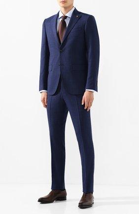 Мужская хлопковая сорочка KITON голубого цвета, арт. UCIH0660810 | Фото 2