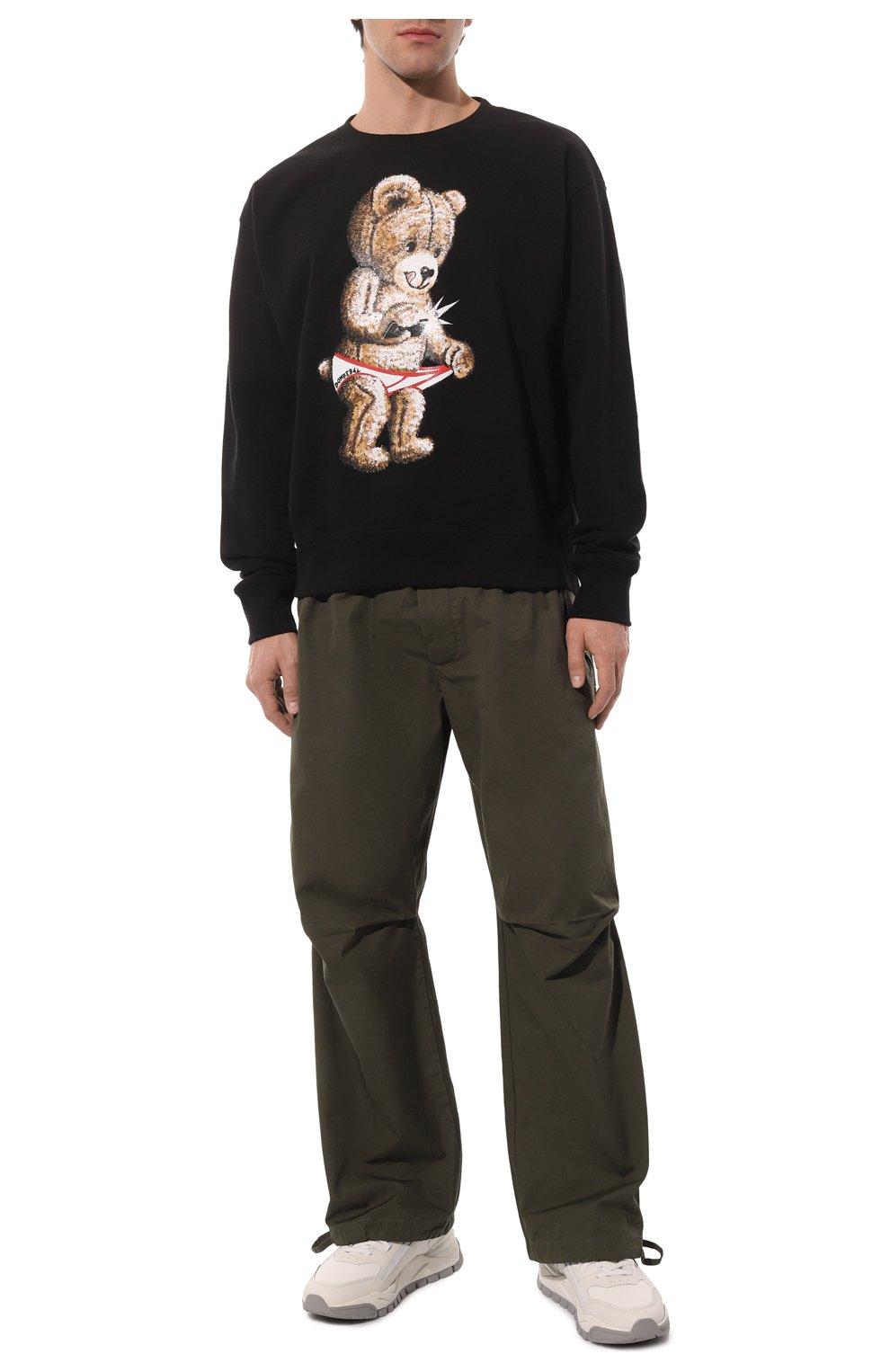 Мужской хлопковый свитшот DOM REBEL черного цвета, арт. SNAP/SWEATSHIRT | Фото 2