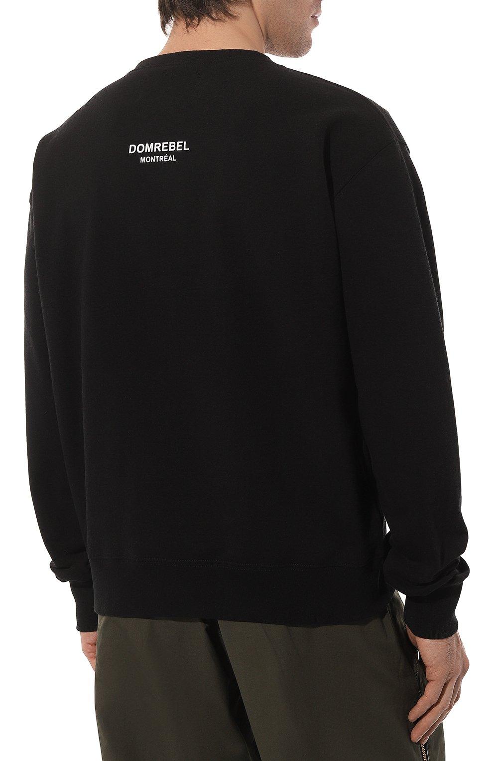 Мужской хлопковый свитшот DOM REBEL черного цвета, арт. SNAP/SWEATSHIRT | Фото 4