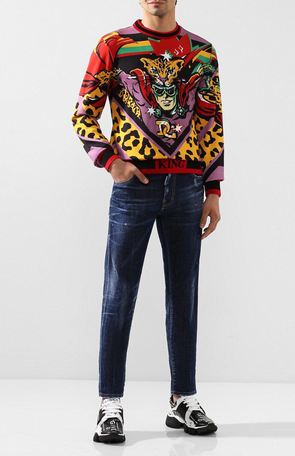 Мужские джинсы DSQUARED2 синего цвета, арт. S71LB0630/S30342 | Фото 2