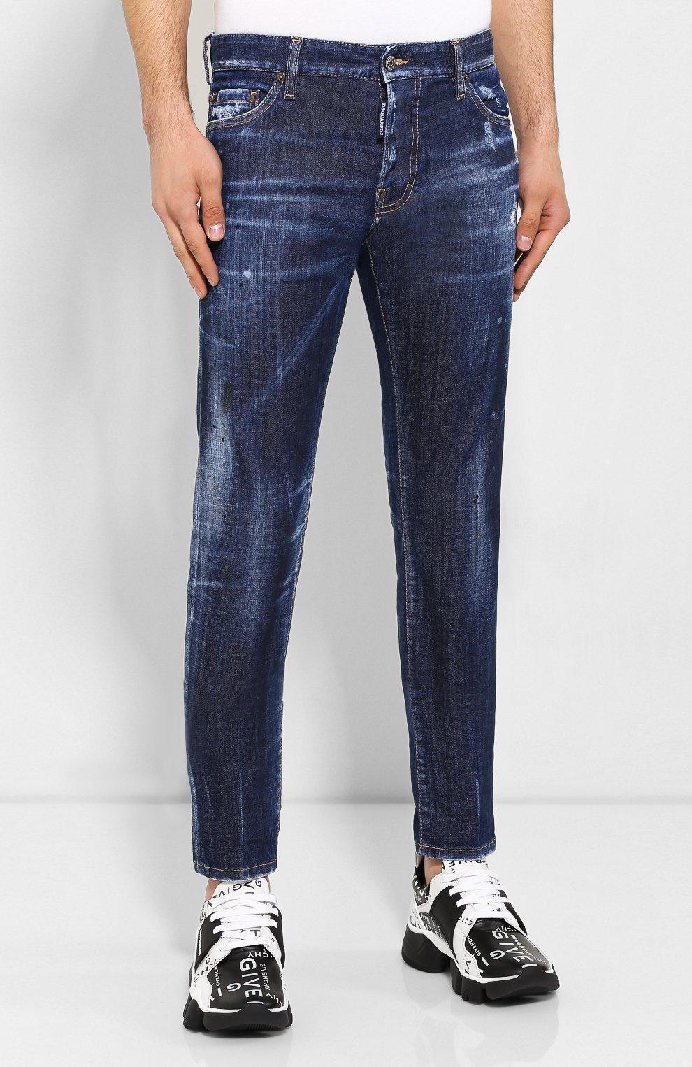 Мужские джинсы DSQUARED2 синего цвета, арт. S71LB0630/S30342 | Фото 3