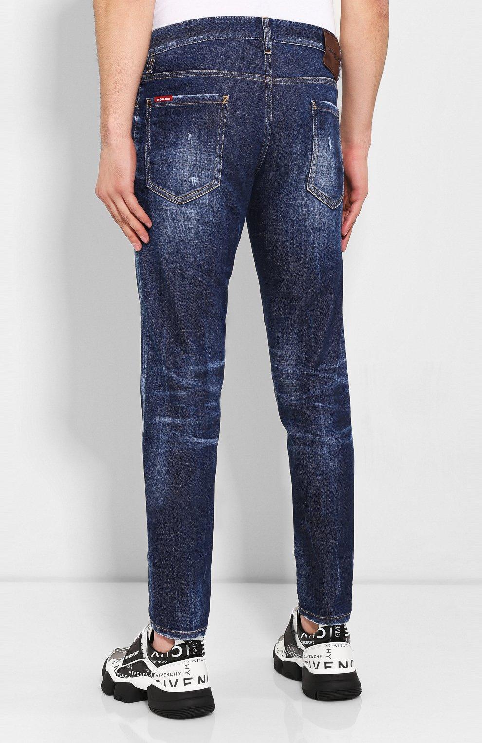 Мужские джинсы DSQUARED2 синего цвета, арт. S71LB0630/S30342 | Фото 4