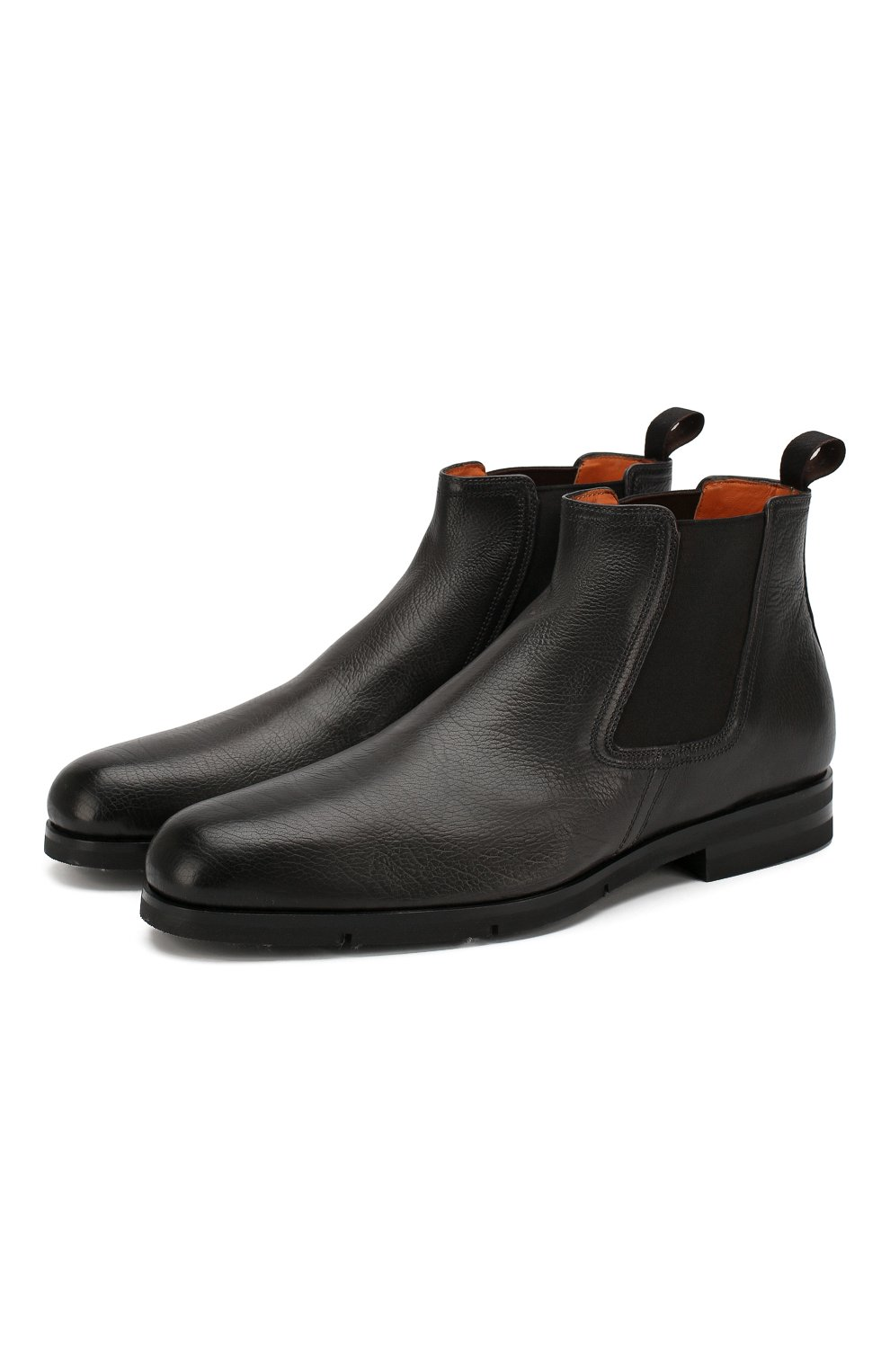 Мужские кожаные челси SANTONI черного цвета, арт. MCAG16456SI5ECGCG45 | Фото 1