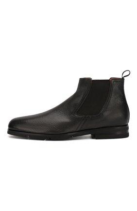 Мужские кожаные челси SANTONI черного цвета, арт. MCAG16456SI5ECGCG45 | Фото 3