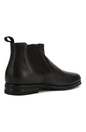 Мужские кожаные челси SANTONI черного цвета, арт. MCAG16456SI5ECGCG45 | Фото 4
