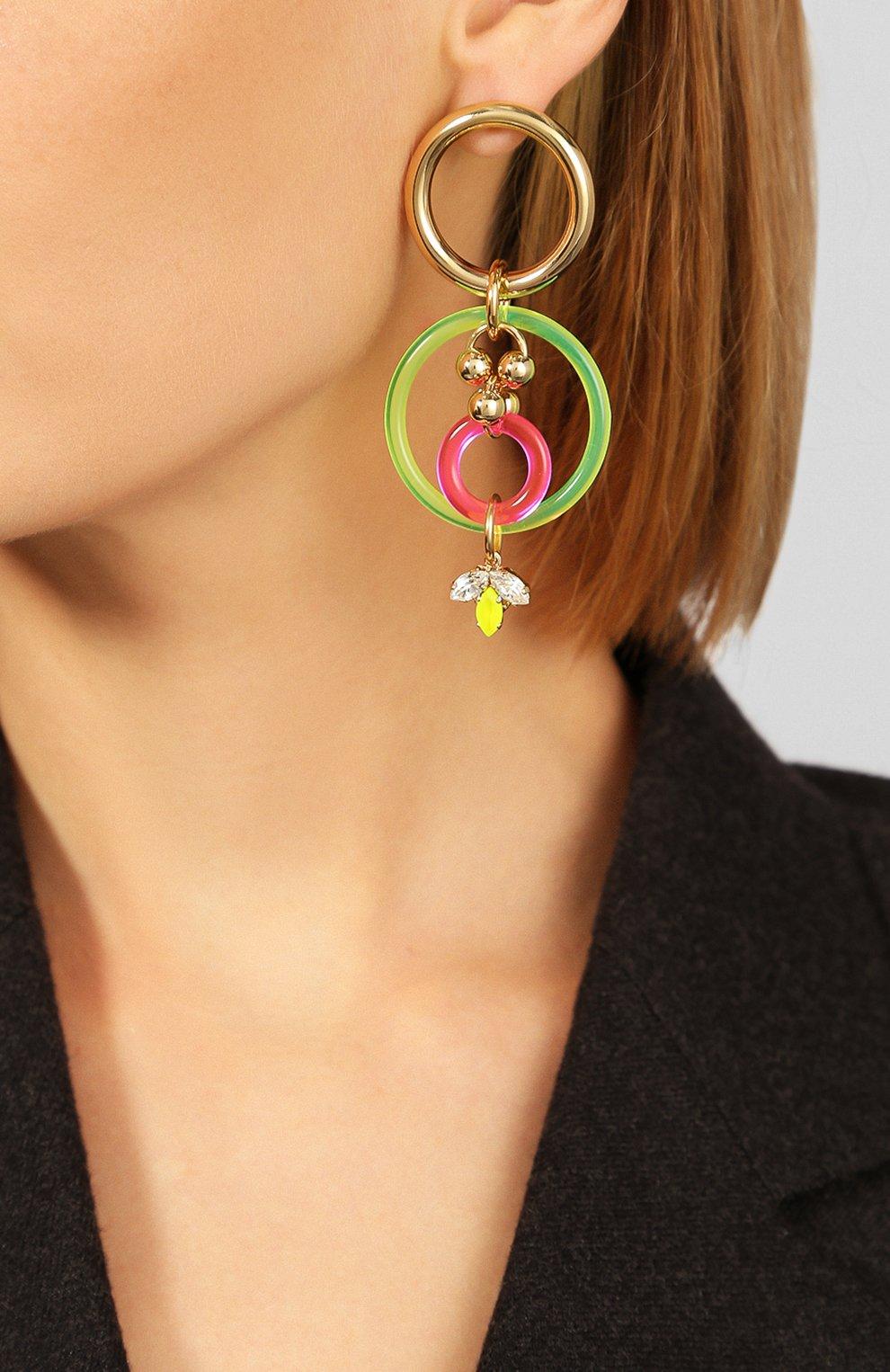 Женские серьги ANTON HEUNIS разноцветного цвета, арт. NGP3.15 | Фото 2