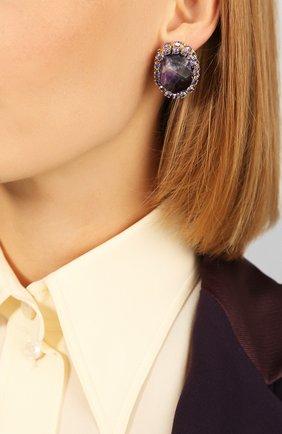 Женские серьги ANTON HEUNIS фиолетового цвета, арт. FLT3.05 | Фото 2
