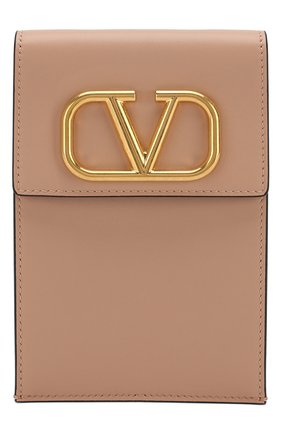 Мужского кожаный чехол для iphone valentino garavani VALENTINO бежевого цвета, арт. SW2P0S45/ZXL   Фото 1