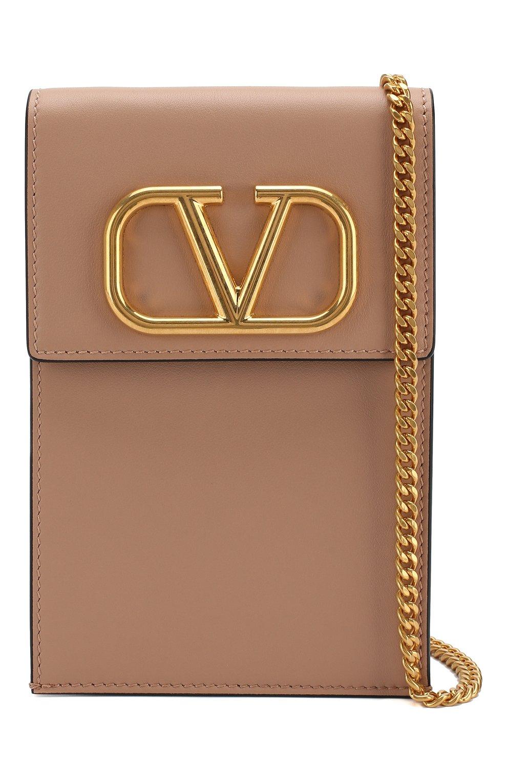 Мужского кожаный чехол для iphone valentino garavani VALENTINO бежевого цвета, арт. SW2P0S45/ZXL   Фото 4