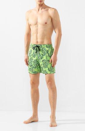 Детского плавки-шорты VILEBREQUIN светло-зеленого цвета, арт. MAHH9J06 | Фото 2