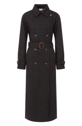 Женское шерстяное пальто LORO PIANA темно-синего цвета, арт. FAI7828 | Фото 1