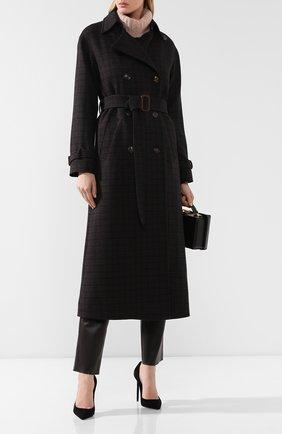 Женское шерстяное пальто LORO PIANA темно-синего цвета, арт. FAI7828 | Фото 2