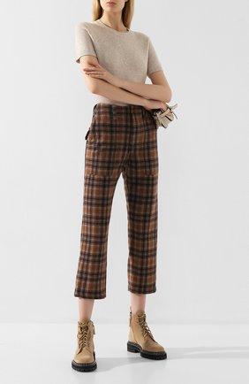 Женские брюки JEJIA коричневого цвета, арт. 2739J1P003 190762 | Фото 2