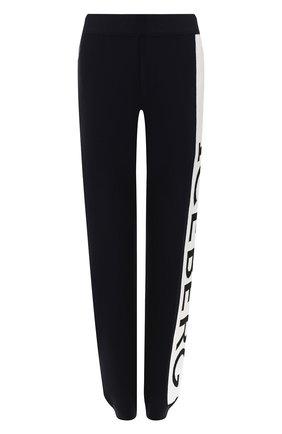 Женские шерстяные брюки ICEBERG темно-синего цвета, арт. 19I I2P0/AB03/7010   Фото 1