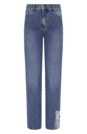 Женские джинсы MSGM синего цвета, арт. 2741MDP41LX 195785 | Фото 1
