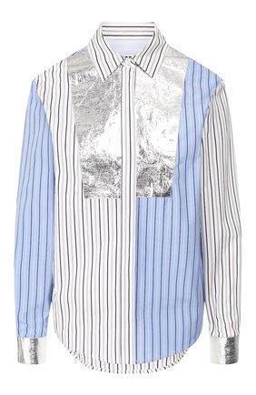 Женская хлопковая рубашка MSGM разноцветного цвета, арт. 2741MDE06Y 195619 | Фото 1
