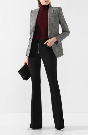 Женские шерстяные брюки TOM FORD черного цвета, арт. PAW258-FAX431 | Фото 2 (Материал внешний: Шерсть; Длина (брюки, джинсы): Удлиненные; Статус проверки: Проверена категория; Женское Кросс-КТ: Брюки-одежда)