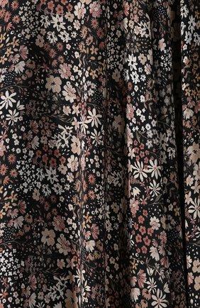 Женская шелковая юбка ALEXANDER TEREKHOV коричневого цвета, арт. SK333/1415.FLW930/W20 | Фото 5