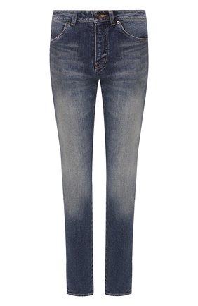 Женские джинсы SAINT LAURENT синего цвета, арт. 527379/YF477 | Фото 1