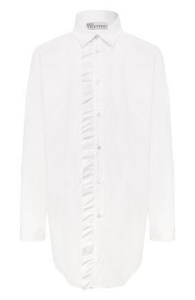 Женская хлопковая рубашка REDVALENTINO белого цвета, арт. SR0AB1Z0/0ES | Фото 1