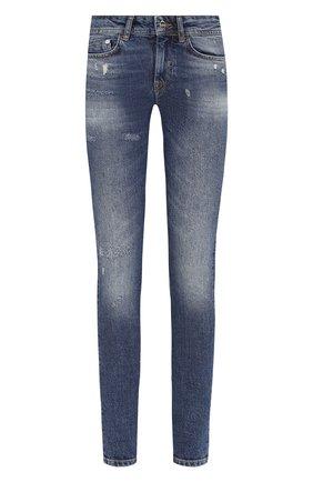 Женские джинсы с потертостями ICEBERG темно-синего цвета, арт. 19I I2P0/2H01/6002 | Фото 1