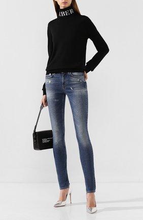 Женские джинсы с потертостями ICEBERG темно-синего цвета, арт. 19I I2P0/2H01/6002 | Фото 2