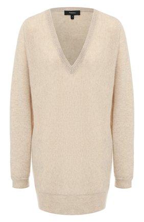 Женская кашемировый пуловер THEORY бежевого цвета, арт. J0618720 | Фото 1