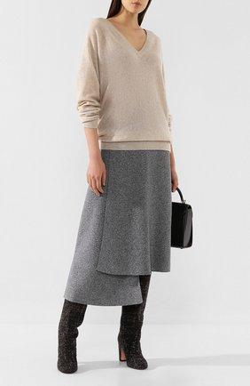 Женская кашемировый пуловер THEORY бежевого цвета, арт. J0618720 | Фото 2