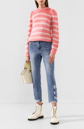 Женская свитер STEVE J & YONI P розового цвета, арт. PW1J7K-P0039W   Фото 2