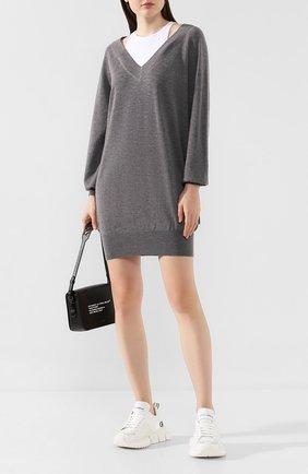 Женское шерстяное платье ALEXANDERWANG.T серого цвета, арт. 4KC2196016 | Фото 2