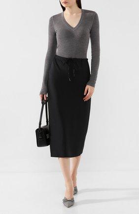 Женская шерстяной пуловер ALEXANDERWANG.T серого цвета, арт. 4KC2191076 | Фото 2