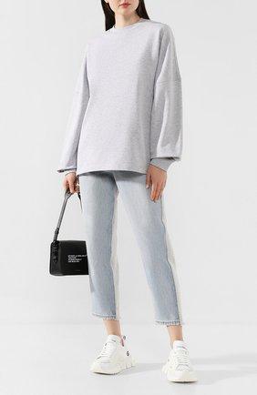 Женская хлопковый пуловер ALEXANDERWANG.T серого цвета, арт. 4CC2191024 | Фото 2