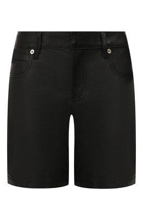 Женские кожаные шорты ALEXANDER WANG черного цвета, арт. 1WC2194167 | Фото 1