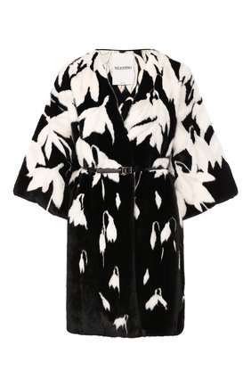 Женская шуба из меха норки VALENTINO черного цвета, арт. SF3FA7681CF | Фото 1