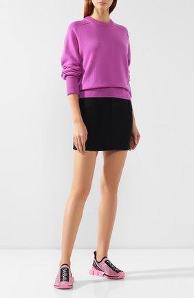 Женские текстильные кроссовки sorrento DOLCE & GABBANA розового цвета, арт. CK1644/AZ284 | Фото 2