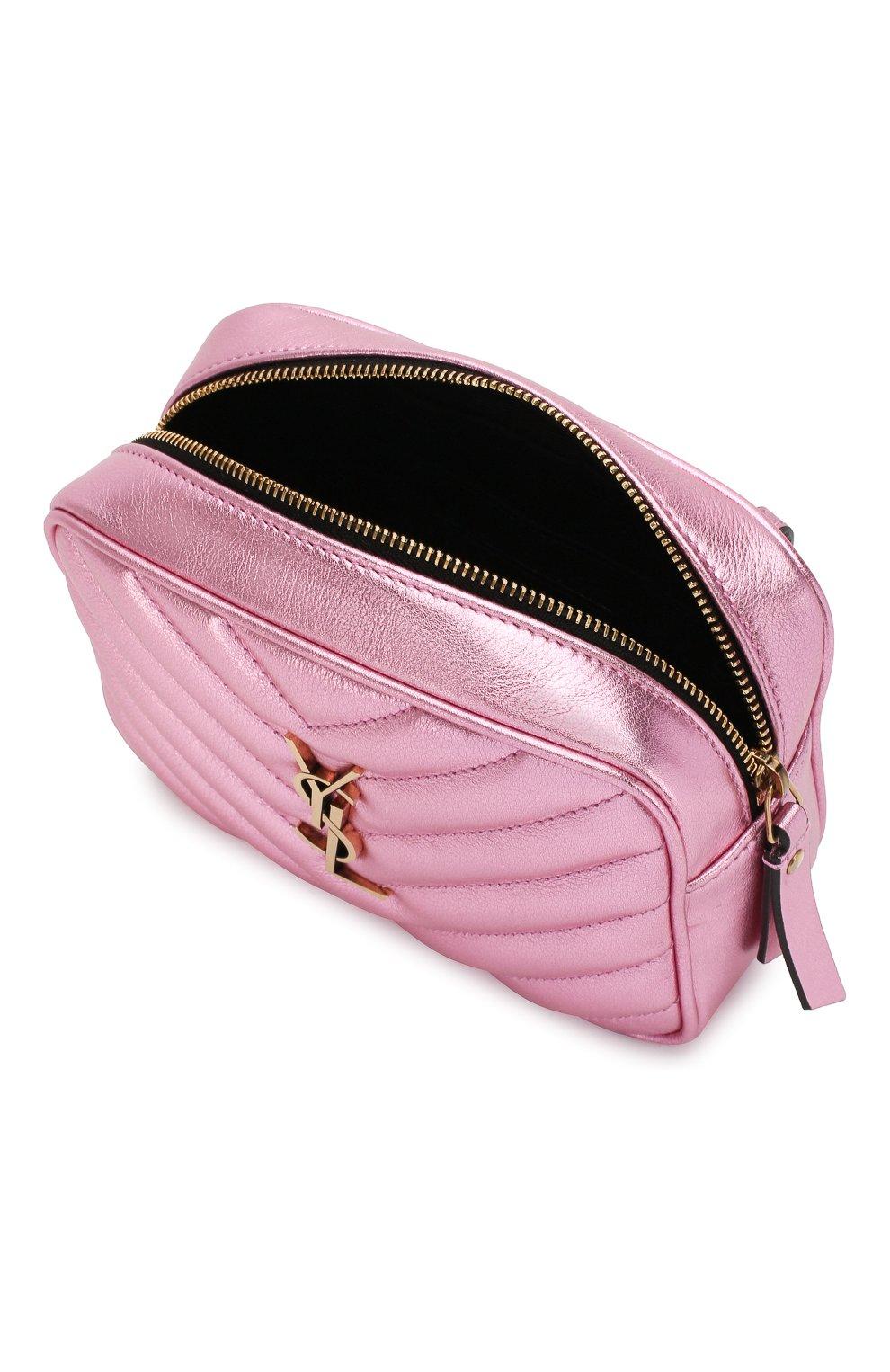 Женская поясная сумка lou SAINT LAURENT розового цвета, арт. 534817/09E0W   Фото 4