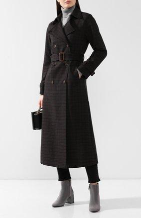 Женские замшевые ботильоны CASADEI темно-серого цвета, арт. 1Q954N06THT0049A215 | Фото 2