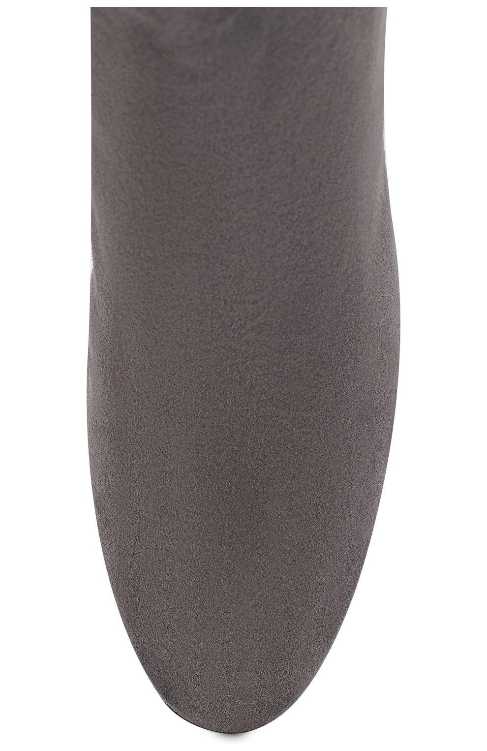 Женские замшевые ботильоны CASADEI темно-серого цвета, арт. 1Q954N06THT0049A215 | Фото 5